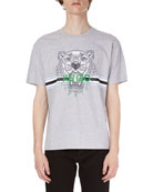 Tiger-Graphic Jersey T-Shirt