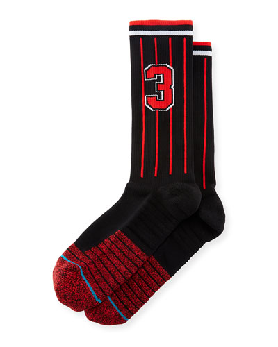 x Dwayne Wade Pinstriped Socks