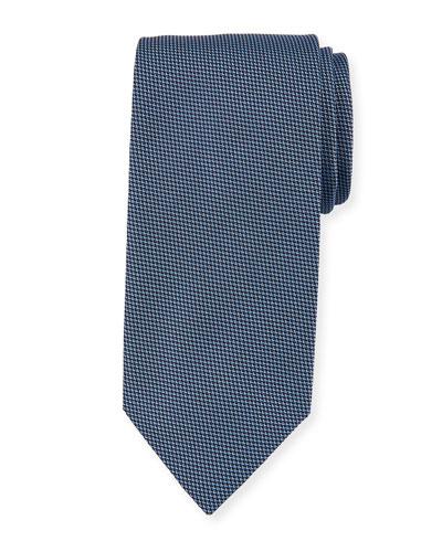 Micro Houndstooth Silk Tie