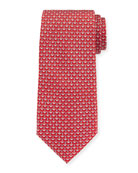 Anchors Silk Tie, Red