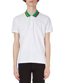 Contrast-Collar Polo Shirt