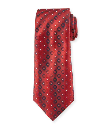 Dot in Circle Silk Tie