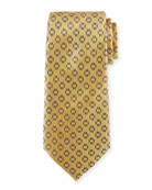 Dot-in-Circle Silk Tie, Yellow
