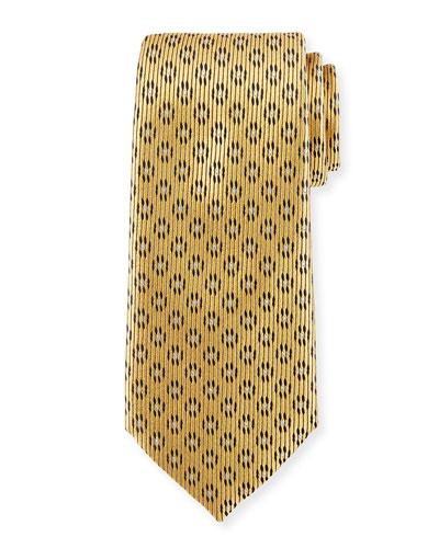 Dot-in-Circle Silk Tie, Yellow
