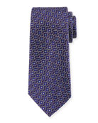 Ermenegildo Zegna Connected Flower Silk Tie, Purple