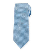 Connected Diamond Silk Tie