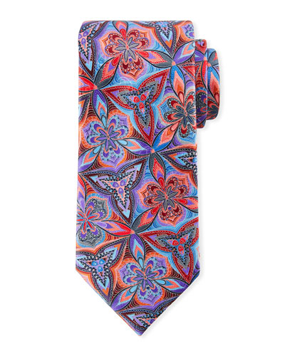 Venticinque Floral Tie, Blue