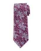 Large Floral Silk Tie