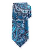 Paisley Silk Tie, Blue