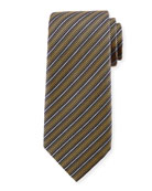 Ermenegildo Zegna Multi-Stripe Silk Tie, Yellow