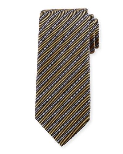 Multi-Stripe Silk Tie, Yellow