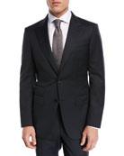 Ermenegildo Zegna Tonal Plaid Two-Piece Suit, Black