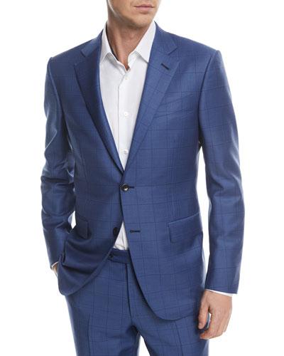 Windowpane Trofeo® Wool Two-Piece Suit