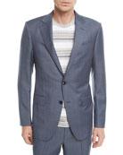 Melange Wool Two-Piece Suit