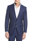 Tonal Plaid Two-Piece Wool-Blend Suit