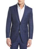 Ermenegildo Zegna Tonal Plaid Two-Piece Wool-Blend Suit