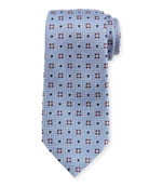 Diamond Ground Medallion Silk Tie