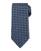 Octagons Silk Tie, Blue