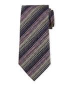 Variegated Stripe Silk Tie