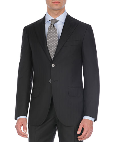 Tonal-Striped Two-Piece Suit
