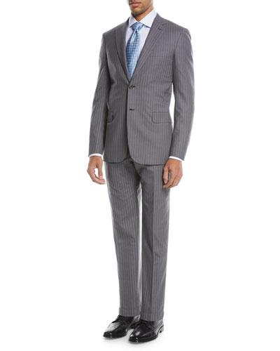 Super 150s Wool Twin-Stripe Two-Piece Suit