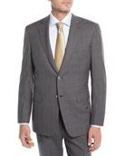 Brioni Men's Plaid Wool Two-Piece Suit, Gray