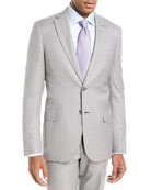 Houndstooth Wool-Silk Two-Piece Suit