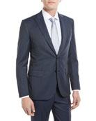 Herringbone Two-Piece Wool Suit