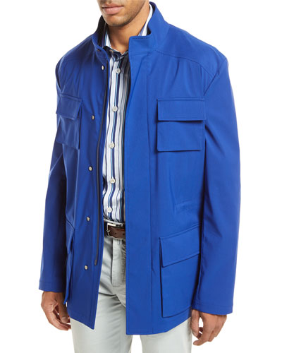 Safari Four-Pocket Coat, Blue