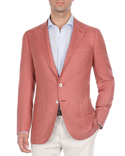 Heathered Silk Blazer