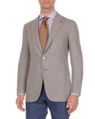 Wool-Blend Birdseye Jacket