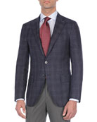 Plaid Wool-Blend Sport Coat