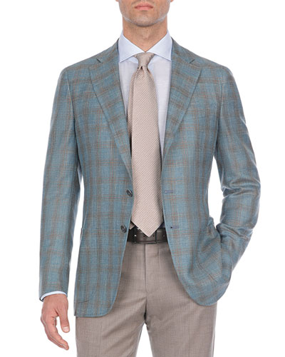 Two-Tone Plaid Wool-Blend Sport Coat