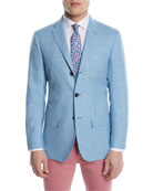 Check Cashmere Two-Button Sport Coat