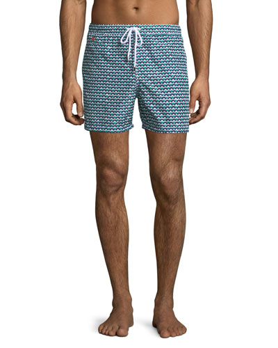 Waves Pattern Swim Trunks
