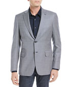 Tic Textured Wool Blazer