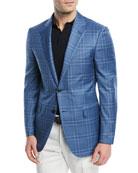 Ermenegildo Zegna Plaid Wool-Silk Sport Coat