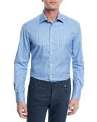 Checked Cotton Sport Shirt