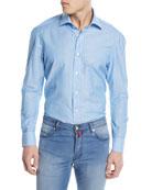 Striped Cotton/Linen Sport Shirt