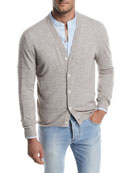 Cashlino Button-Front Cardigan
