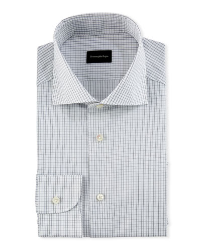 Graph-Check Cotton Dress Shirt