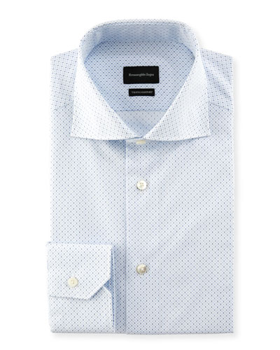 Trofeo Comfort Micro-Print Cotton Dress Shirt