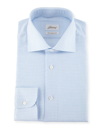 Ventiquattro Gingham Cotton Dress Shirt
