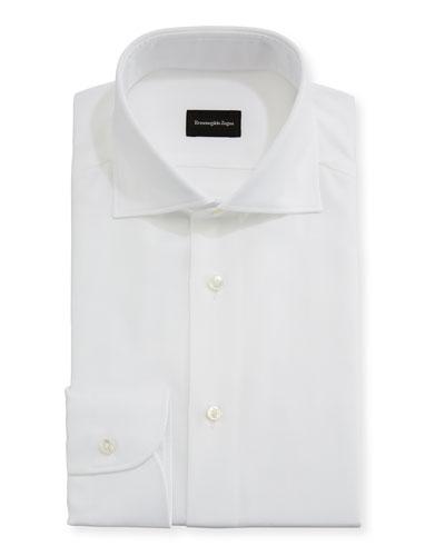 Textured Solid Dress Shirt
