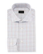 Graph Check Dress Shirt, Brown/Blue