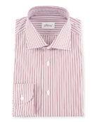 Two-Tone Striped Dress Shirt