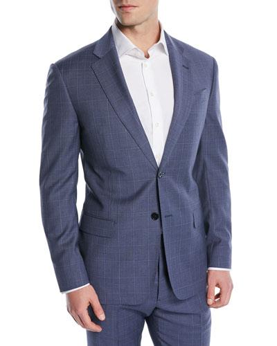 Postal Windowpane Two-Piece Wool Suit