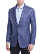 Crosshatch Wool-Blend Blazer