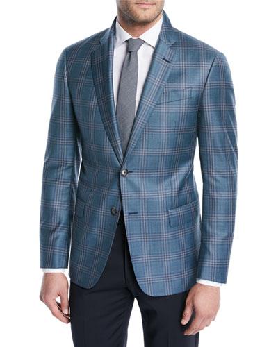 Two-Tone Plaid Wool Soft Jacket