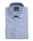 Modern Fit Fine Stripe Barrel-Cuff Dress Shirt